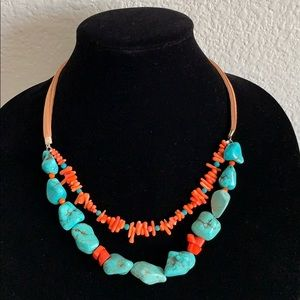 Gemstone necklace New from BARSE 20-22 inch long